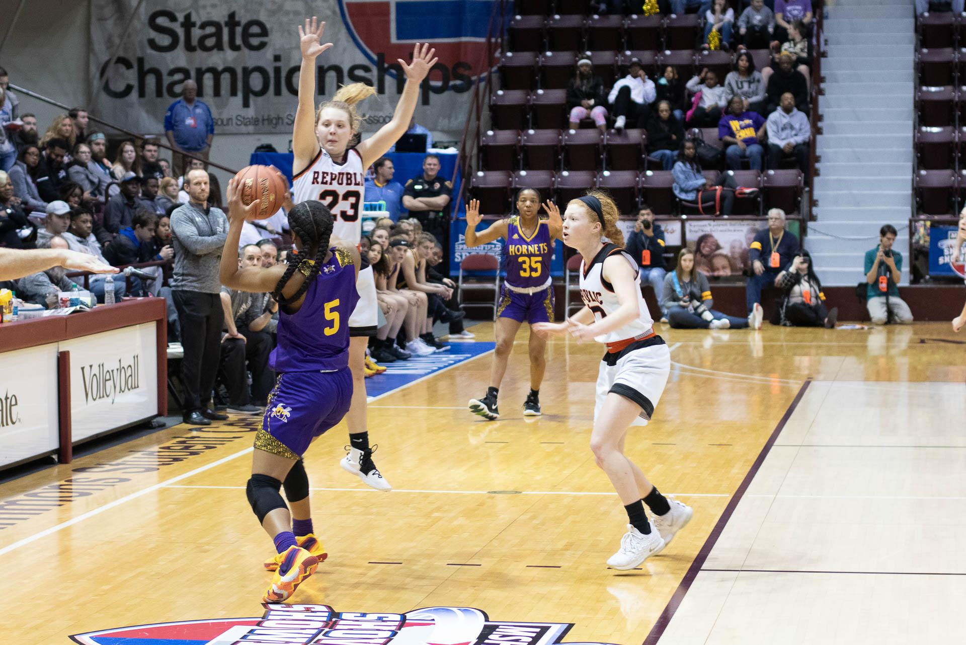Photos:  Girls Basketball Vs North Kansas City (State Semifinals)