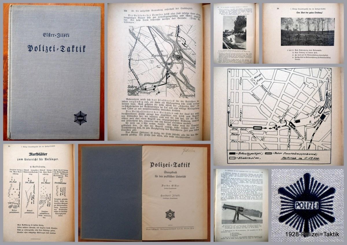 Buchvorstellung: Polizei-Taktik, Elster/Jilski, 1928, Kameradschaft, Verlagsgesellschaft m.b.H., Berlin W 35