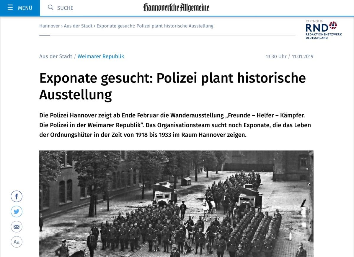 Exponate aus Hannover gesucht!