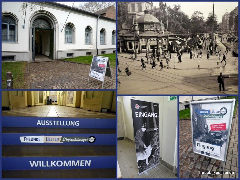 """Ausstellungsbesuch / Impressionen """"Freunde, Helfer, Straßenkämpfer"""" in der alten Kriegsschule in Hannover"""