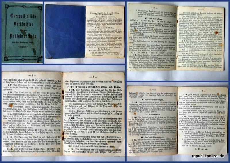 Radfahrvorschriften im Kaiserreich 1907