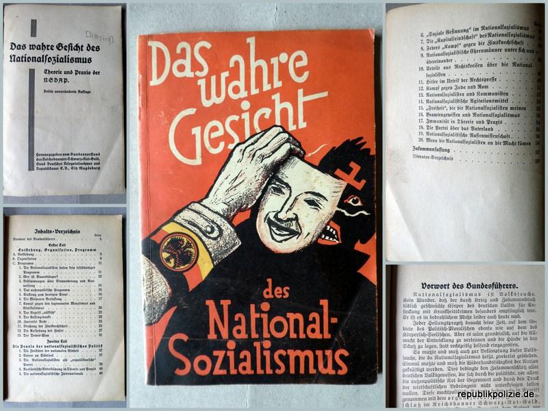 """1929 – Infoheft Nr. 1 des Reichsbanners: """"Das wahre Gesicht des Nationalsozialismus"""""""