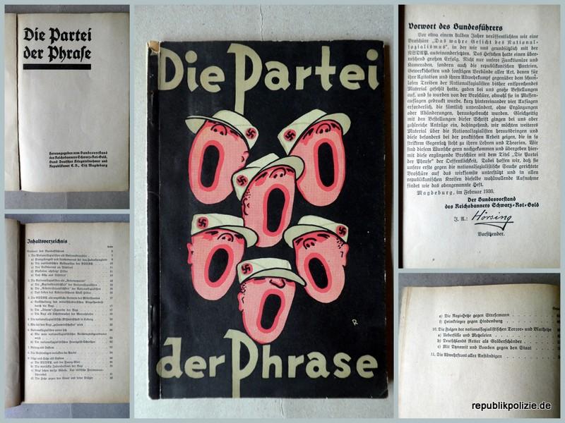 """1930 – Infoheft Nr. 2 des Reichsbanners: """"Die Partei der Phrase"""""""