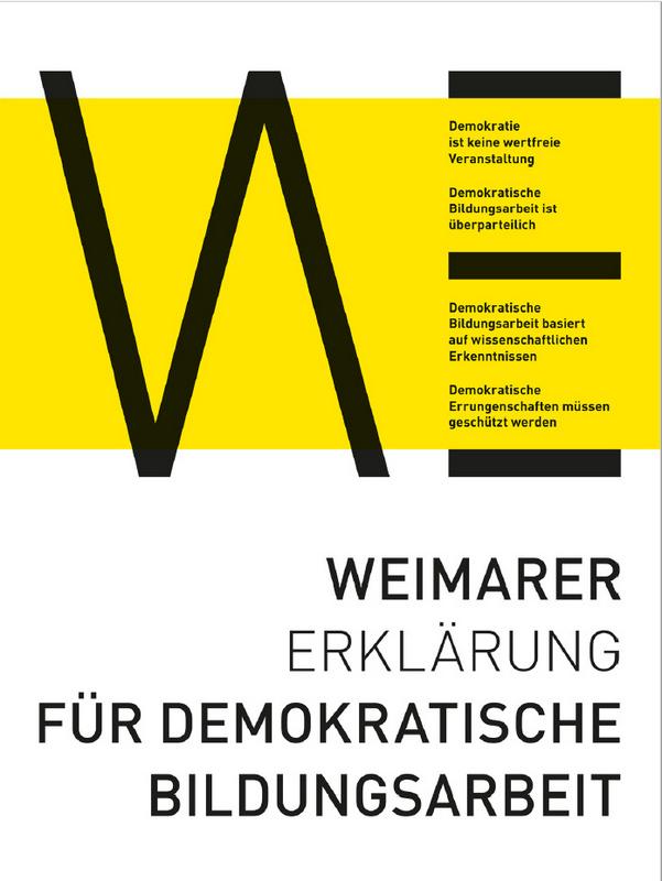 Weimarer Erklärung für demokratische Bildungsarbeit