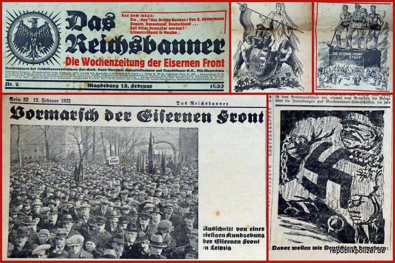 Reichsbannerzeitung Februar 1933 – Ausdrucksstarker Widerstand: