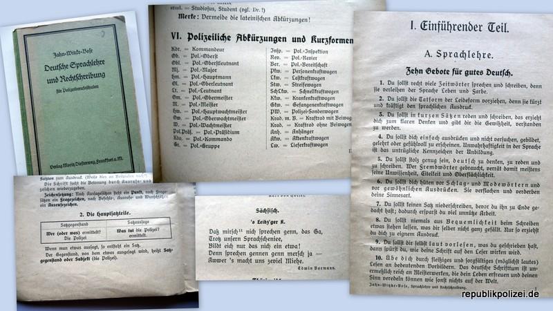 Buchbeschreibung: Deutsche Sprachlehre und Rechtschreibung für Polizeiberufsschulen