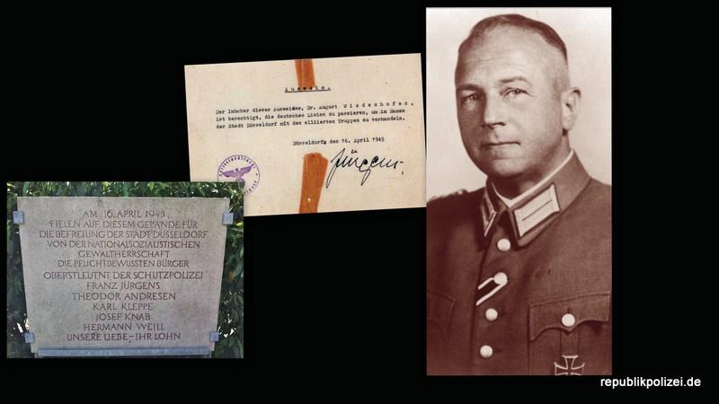 Polizisten-Schicksal zum Kriegsende 1945: Franz Jürgens, Kommandeur der Schutzpolizei Düsseldorf