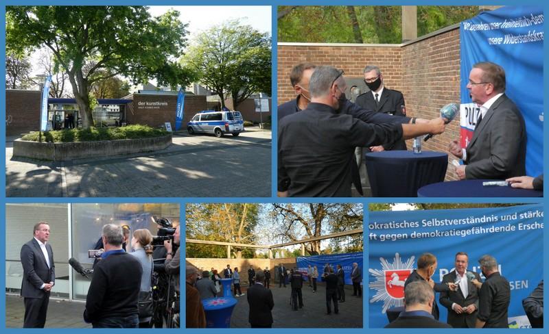 Tagesbericht 21.09.2020: #fhstraßenkämpferhm – Minister Pistorius und Landtagsabgeordnete der SPD zu Besuch (Blaulichttag)