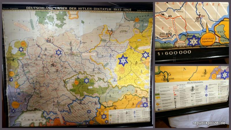 """Schulwandkarte (2): """"Deutschland unter der Hitlerdiktatur 1933 – 1945"""""""