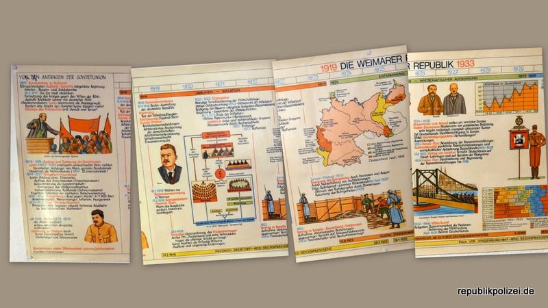 Geschichtsvries: Weimarer Republik (Schulkarte)