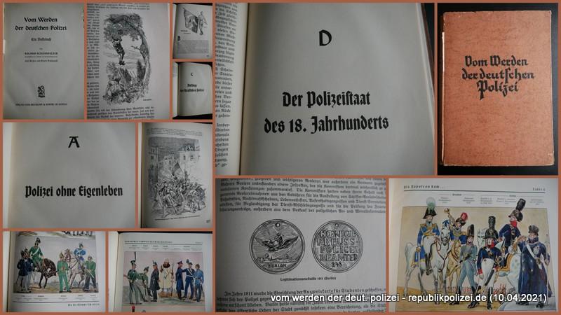 """Buchvorstellung: """"Vom Werden der deutschen Polizei"""" (1937)"""