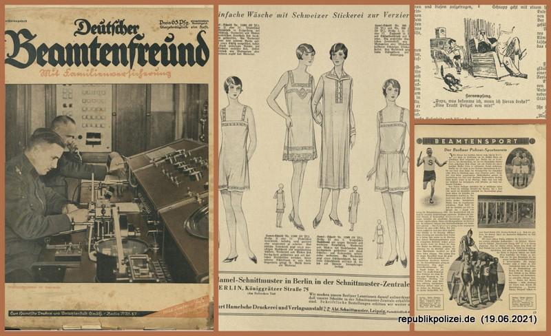 """Zeitschrift: """"Deutscher Beamtenfreund"""" Nr. 0 – 1929"""