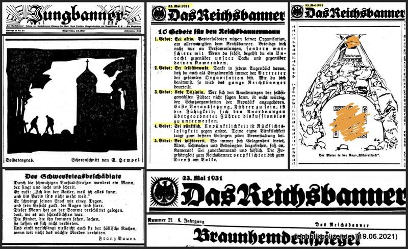 """Zeitung: """"Das Reichsbanner"""" vom 23.05.1931"""