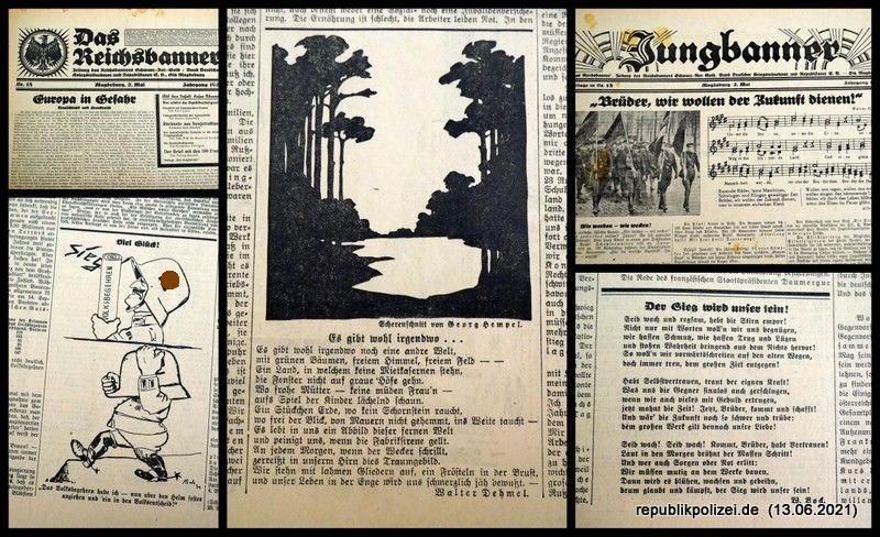 """Zeitung: """"Das Reichsbanner"""" vom 02.05.1931"""