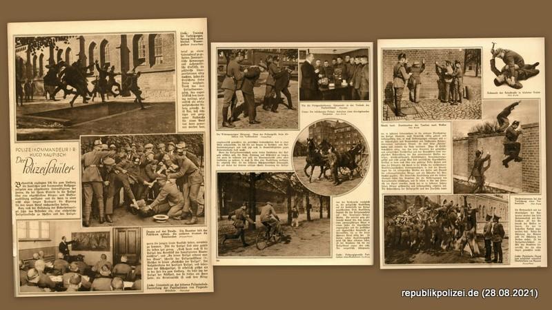 """1927 – Die Woche: """"Der Polizeischüler"""""""