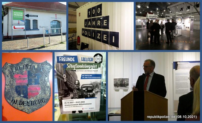 100 Jahre Polizei Wilhelmshaven – Ausstellungseröffnung im Küstenmuseum am 08.10.2021