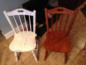 diy painted windsor chairs slipper ikea chalk paint dining room table makeover vintage kitchenette with
