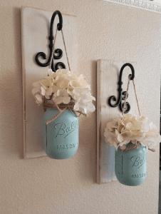 Hanging Mason Jar art
