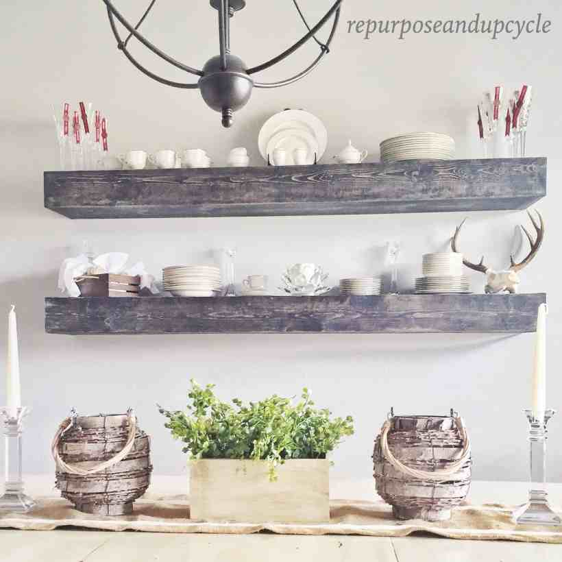 FLOATING DINING ROOM SHELVES
