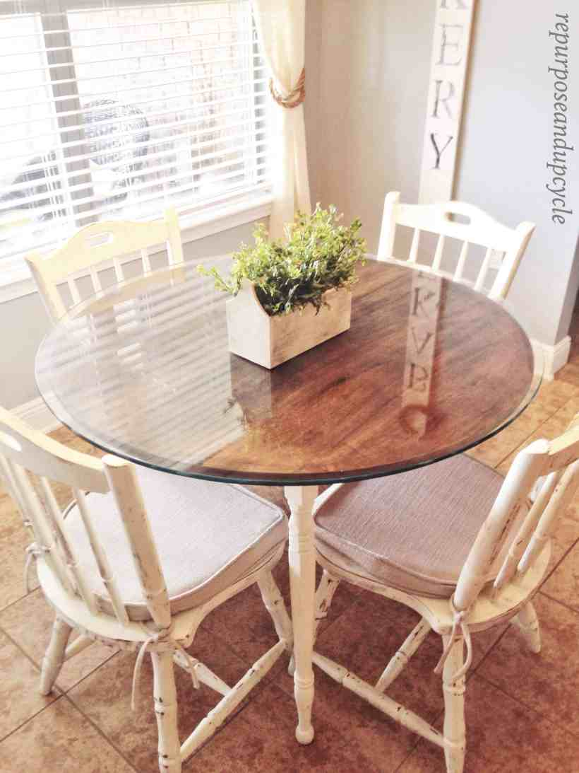 CHALK PAINTED TABLE AND CHAIRS