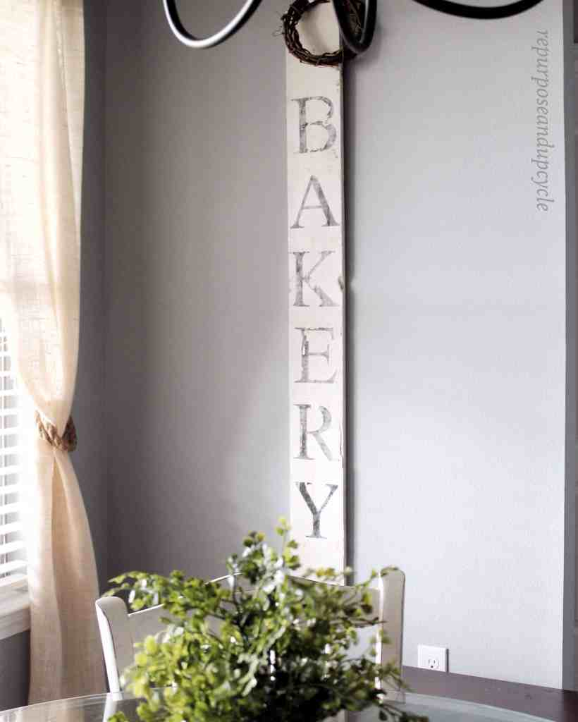 DIY Vintage Bakery Sign