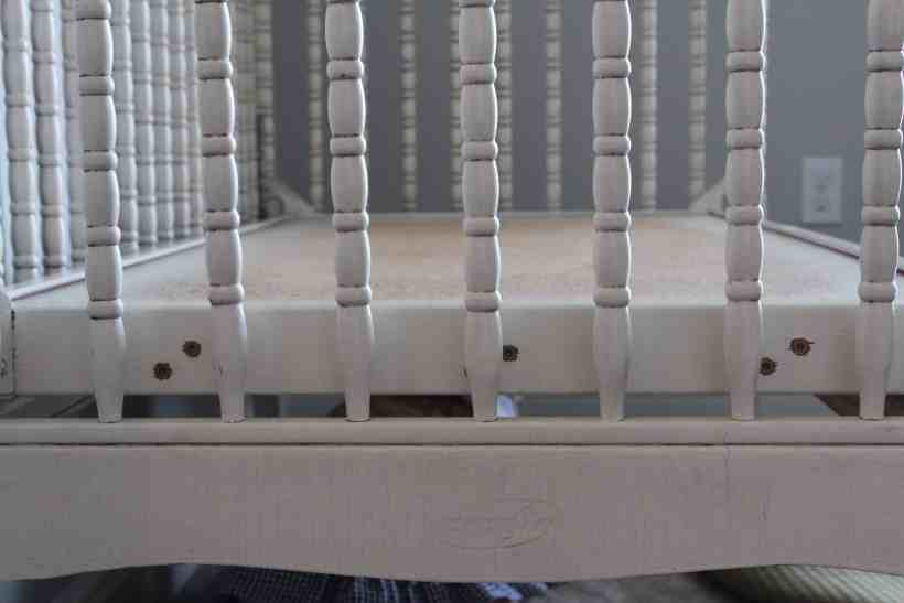 DIY Jenny Lind Crib to a bench