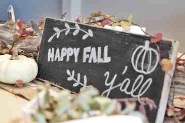 Taking seconds to decorate for fall