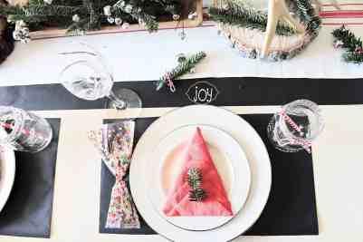 Kid Friendly farmhouse Christmas Table Setting