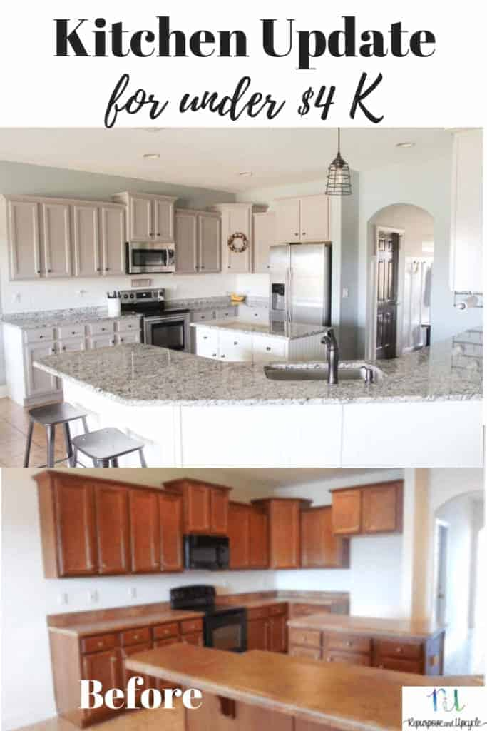 kitchen updates island with wheels budget friendly modern farmhouse update