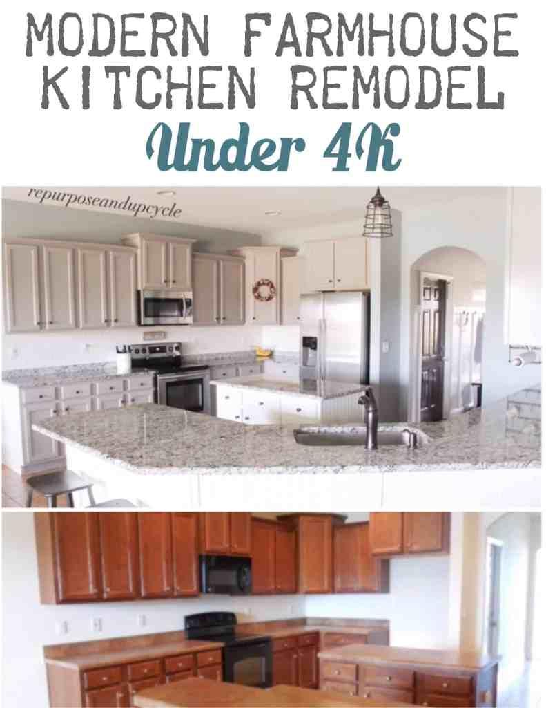 Ways to get this look bright farmhouse kitchen creative the - Modern Farmhouse Kitchen Remodel