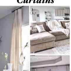 Diy Living Room Furniture Storage Modern Farmhouse Refresh With Drop Cloth Curtains