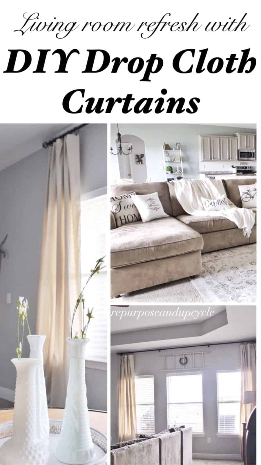 photos of curtains in living rooms chairs for room big lots modern farmhouse refresh with diy drop cloth