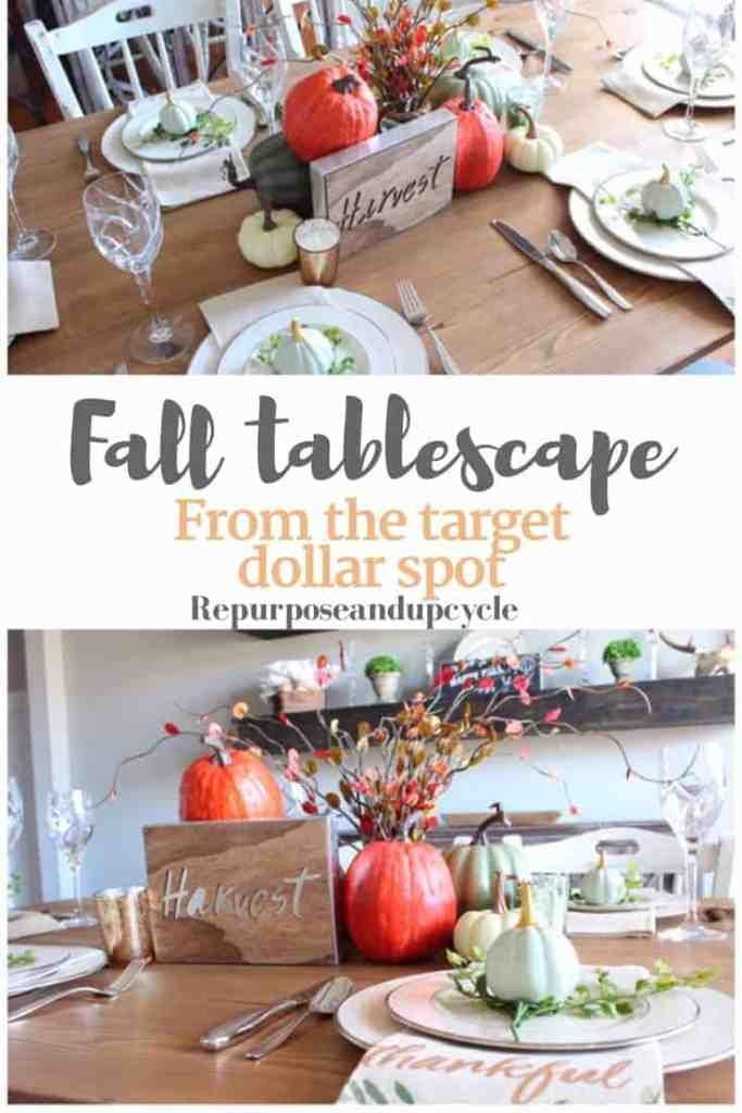Fall Table scape from the Target Dollar Spot