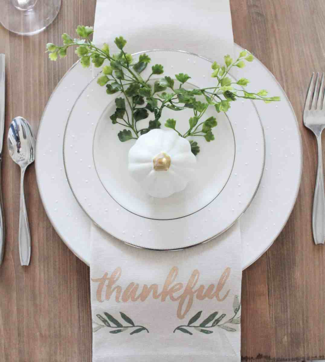 Fall Table Setting from the Target Dollar Spot