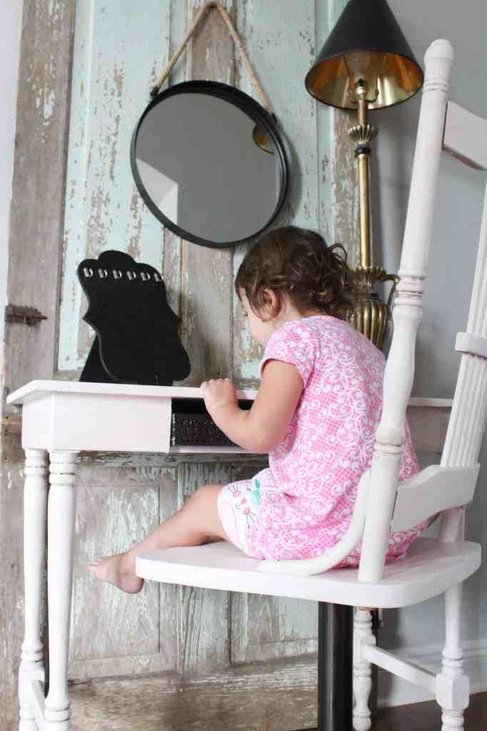 a vintage desk makeover for a little princess