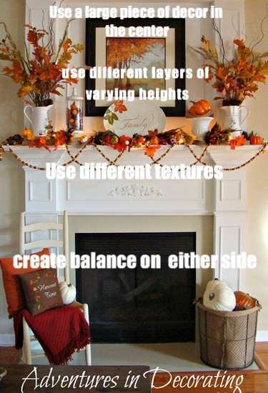 how to decorate a fall mantel
