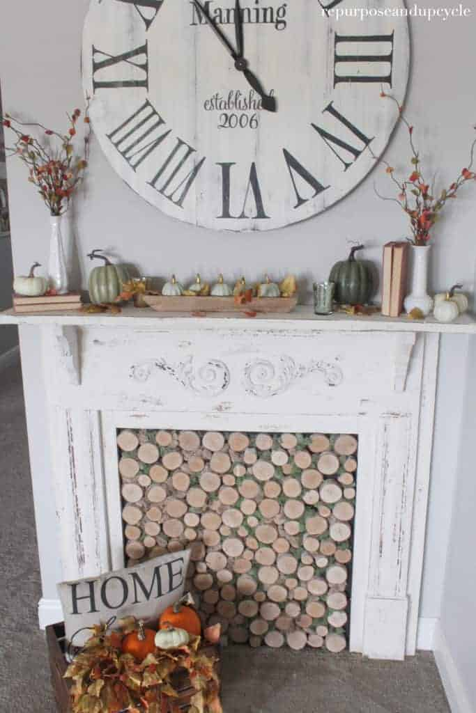 how to decorate a mantel for fall 6