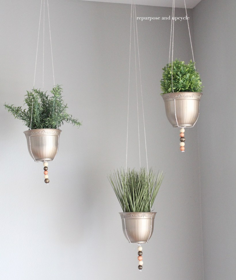 DIY Hanging Planter Project with Dollar Tree Supplies