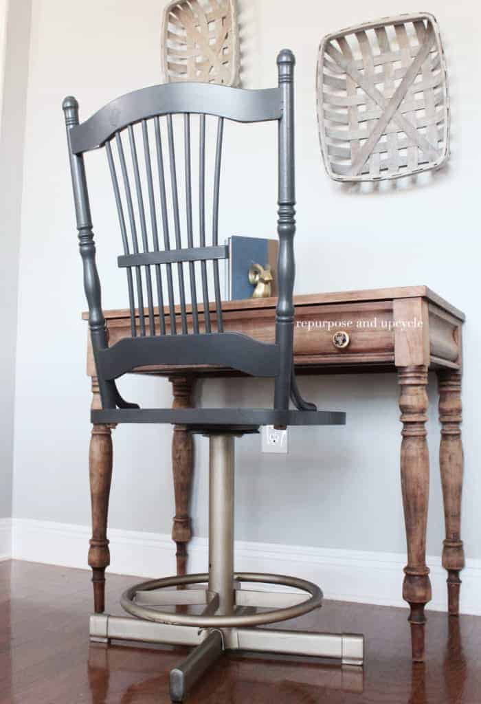 diy painted windsor chairs reclining outdoor lounge chair modern vintage style makeover with gold spray paint