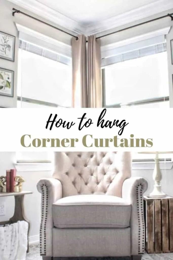 a corner curtain rod hack