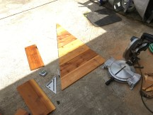 Cutting the boards for the top portion of the front end.