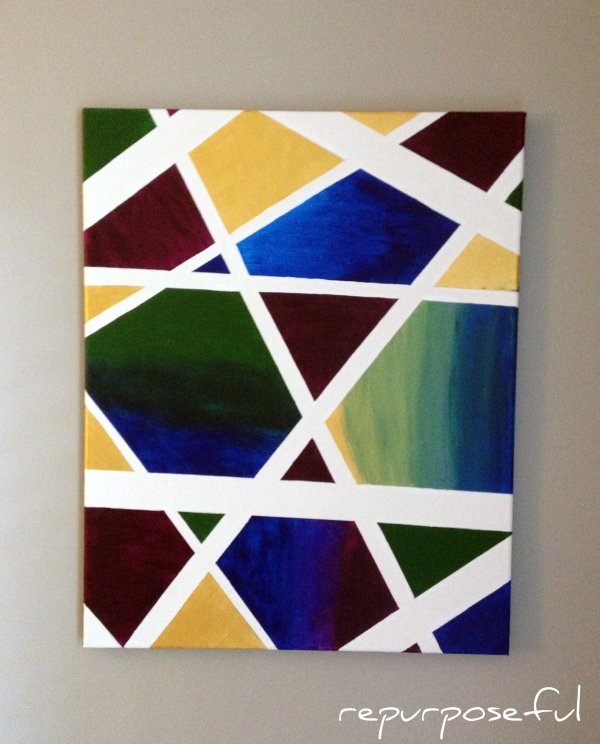 Easy Abstract Canvas Art Diy Repurposeful Boutique