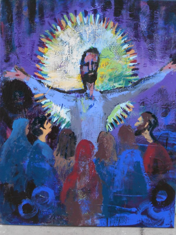 Abstract Painting Jesus Christ