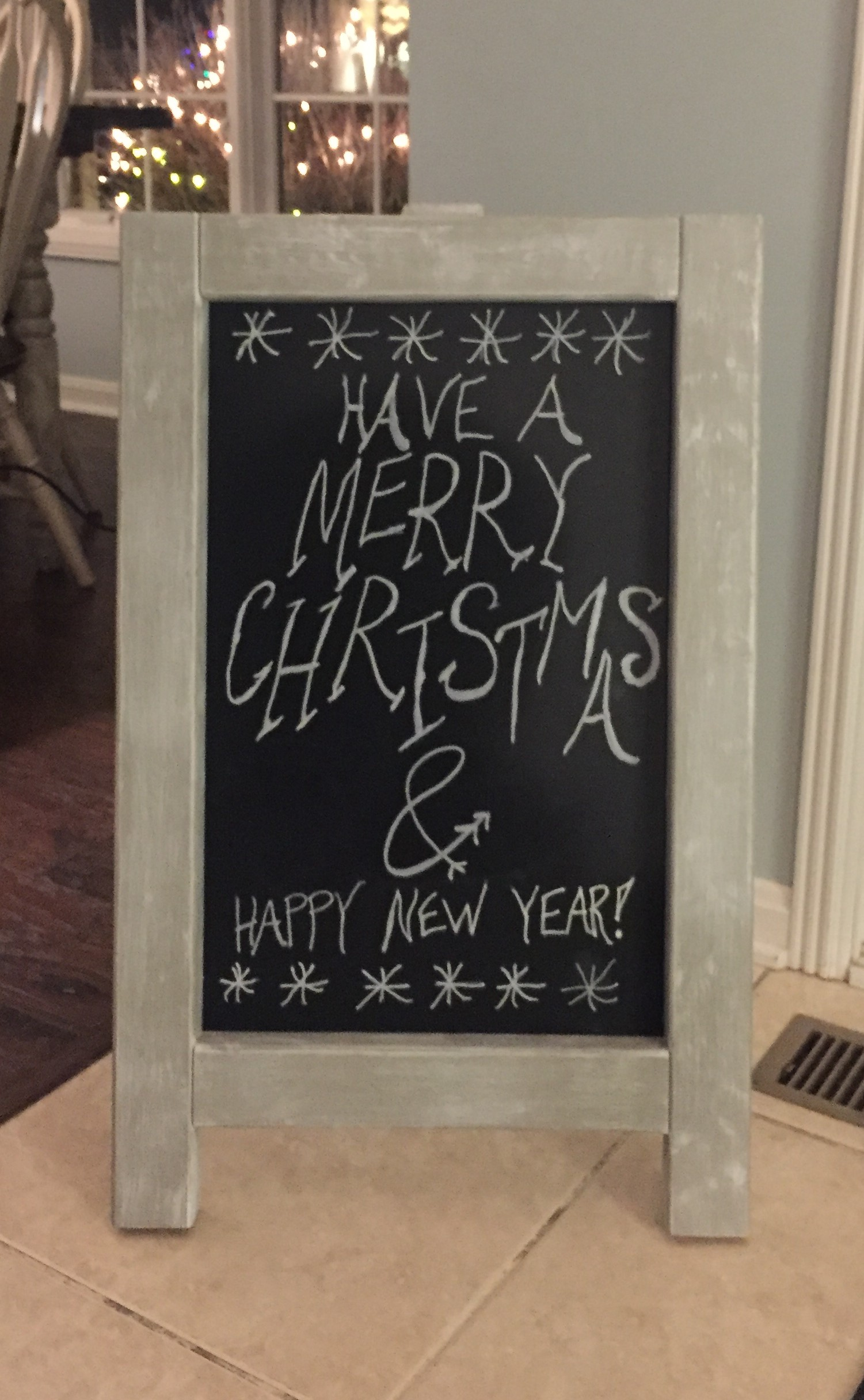 Chalkboard with Christmas greeting
