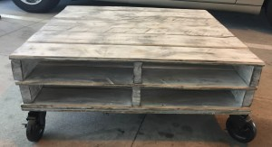 How to make a coffee table out of pallets 2