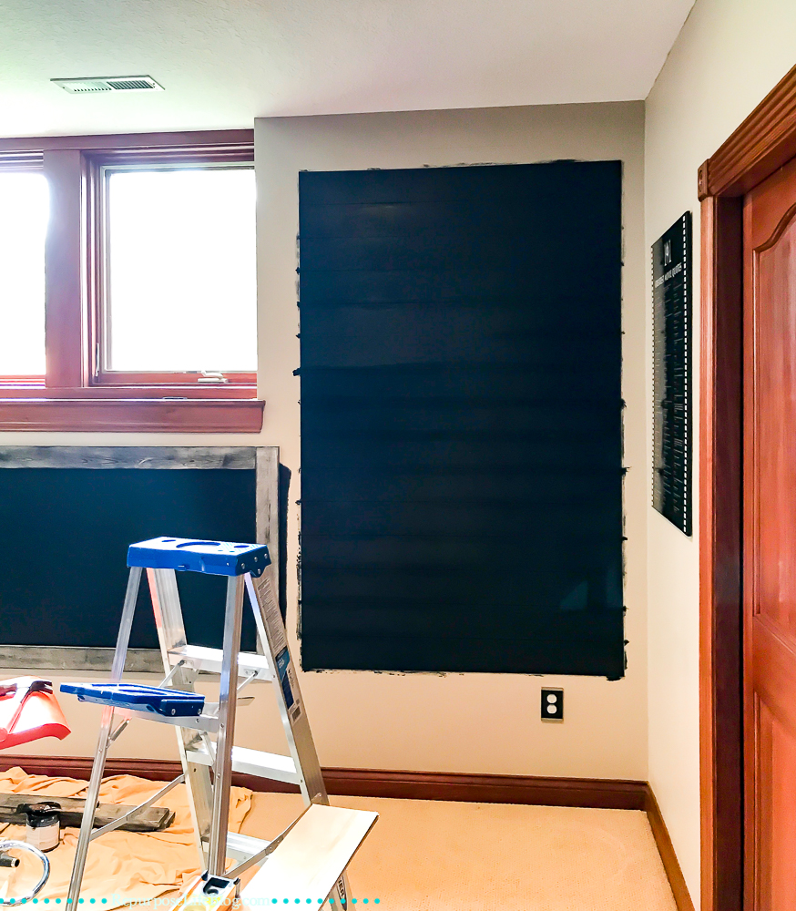 How to build a chalkboard display wall your kids will love