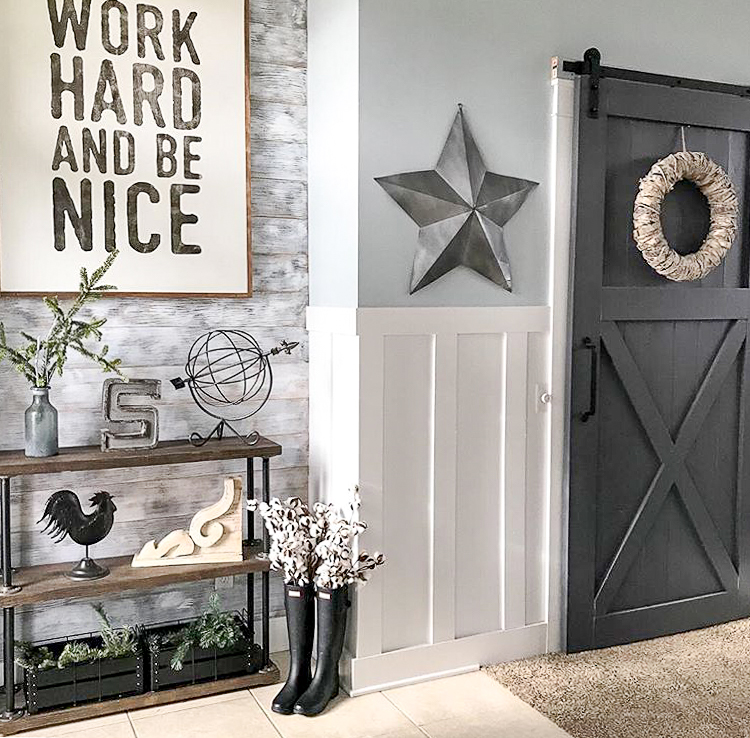 Big wall art sign with home decor