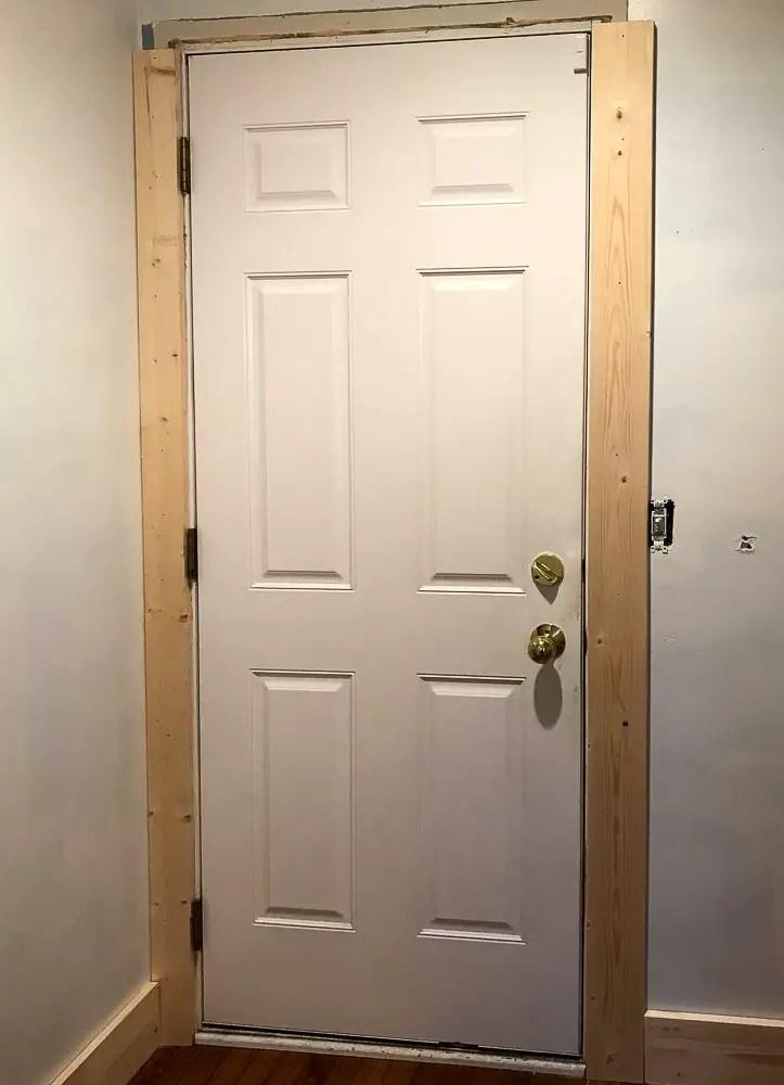 door with craftsman trim