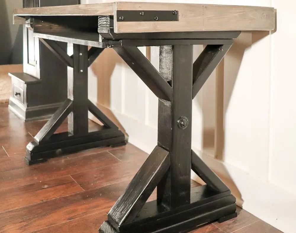 farmhouse industrial desk