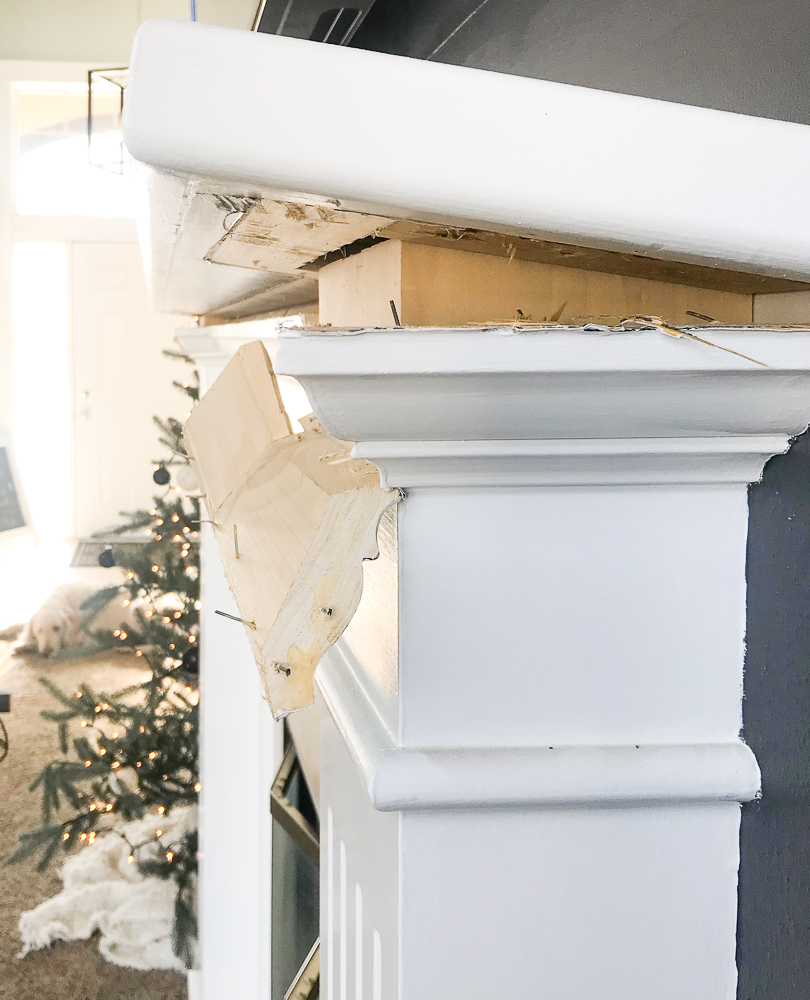 removing mantel from fireplace